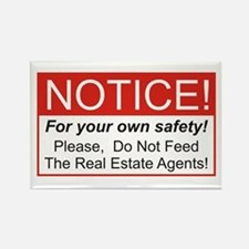Notice / Real Estate Rectangle Magnet