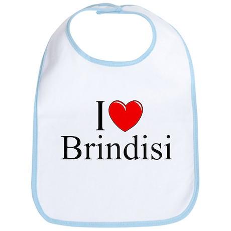 """""""I Love (Heart) Brindisi"""" Bib"""