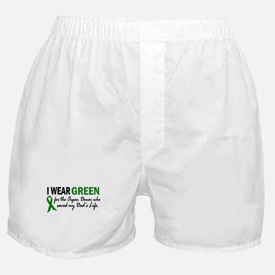 I Wear Green 2 (Dad's Life) Boxer Shorts