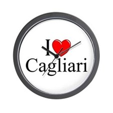 """I Love (Heart) Cagliari"" Wall Clock"
