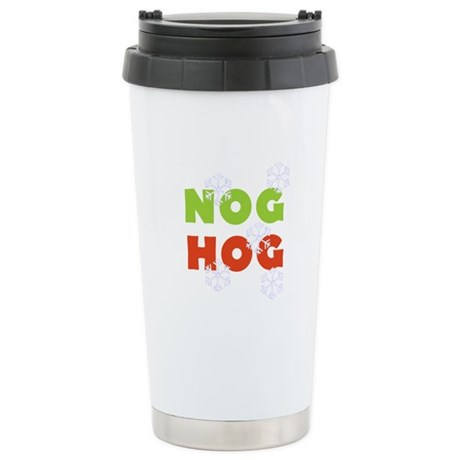 Nog Hog Christmas Stainless Steel Travel Mug