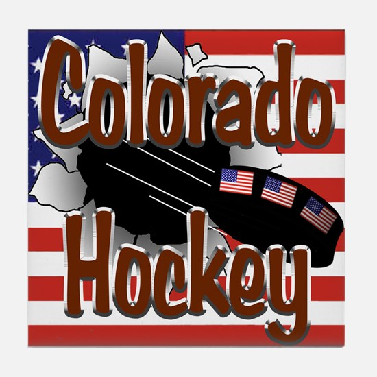 Colorado Hockey Tile Coaster