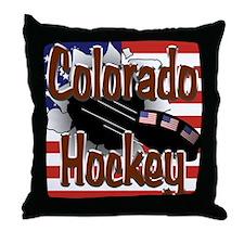 Colorado Hockey Throw Pillow