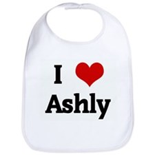 I Love Ashly Bib