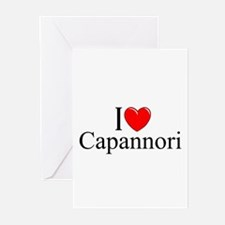 """I Love (Heart) Capannori"" Greeting Cards (Pk of 1"