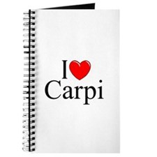 """I Love (Heart) Carpi"" Journal"