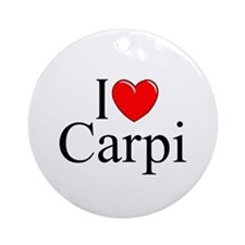 """I Love (Heart) Carpi"" Ornament (Round)"