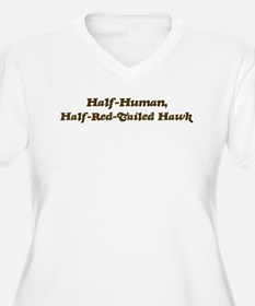 Half-Red-Tailed Hawk T-Shirt