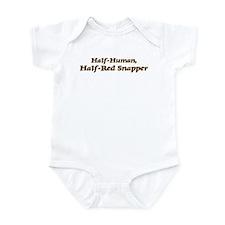 Half-Red Snapper Infant Bodysuit