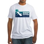 """""""Ship Happens"""" Fitted T-Shirt"""
