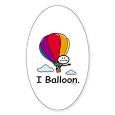 BusyBodies Hot Air Balloon Oval Decal