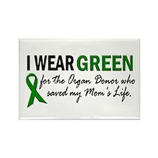I Wear Green 2 (Mom's Life) Rectangle Magnet