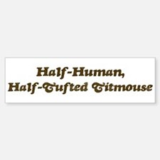 Half-Tufted Titmouse Bumper Bumper Bumper Sticker