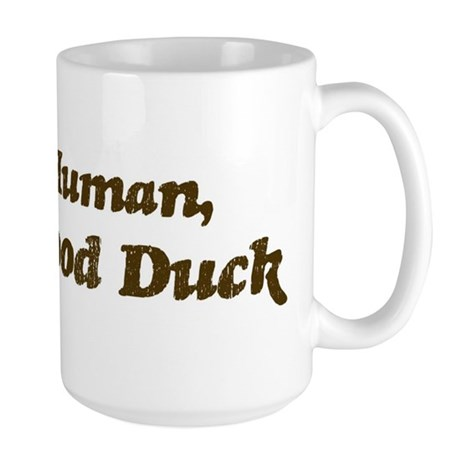 Half-Wood Duck Large Mug