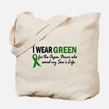 I Wear Green 2 (Son's Life) Tote Bag
