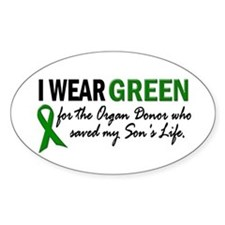 I Wear Green 2 (Son's Life) Oval Decal