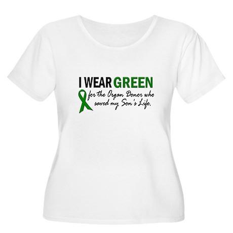 I Wear Green 2 (Son's Life) Women's Plus Size Scoo