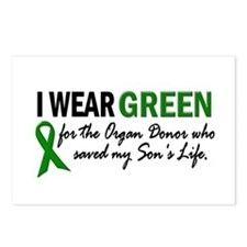 I Wear Green 2 (Son's Life) Postcards (Package of
