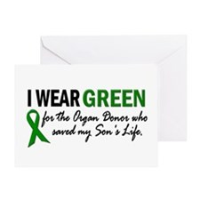 I Wear Green 2 (Son's Life) Greeting Card