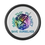 Save The Planet Large Wall Clock