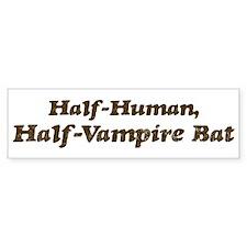 Half-Vampire Bat Bumper Bumper Sticker