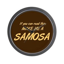 Make Me a Samosa. Wall Clock