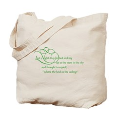 Looking At Stars In Bed Tote Bag