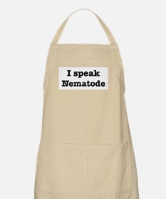 I speak Nematode BBQ Apron