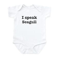 I speak Seagull Infant Bodysuit