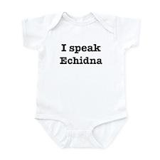 I speak Echidna Infant Bodysuit