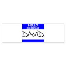 """""""David"""" Bumper Bumper Sticker"""