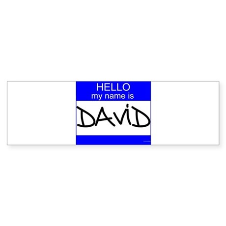 """David"" Bumper Sticker"