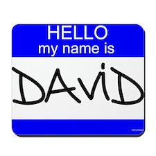 """David"" Mousepad"