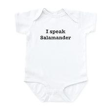 I speak Salamander Infant Bodysuit