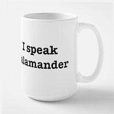 I speak Salamander Large Mug