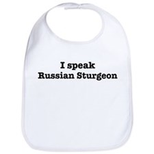I speak Russian Sturgeon Bib