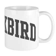 Blackbird (curve-grey) Mug