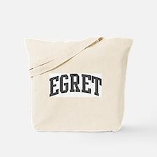 Egret (curve-grey) Tote Bag