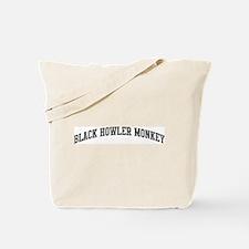 Black Howler Monkey (curve-gr Tote Bag