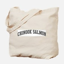 Chinook Salmon (curve-grey) Tote Bag