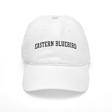 Eastern Bluebird (curve-grey) Baseball Cap