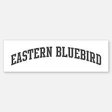 Eastern Bluebird (curve-grey) Bumper Bumper Bumper Sticker