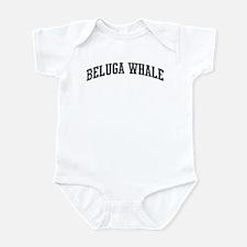 Beluga Whale (curve-grey) Infant Bodysuit