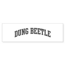 Dung Beetle (curve-grey) Bumper Sticker (10 pk)