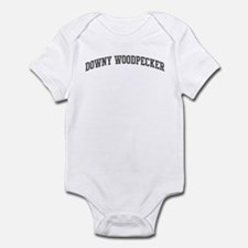 Downy Woodpecker (curve-grey) Infant Bodysuit