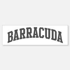 Barracuda (curve-grey) Bumper Bumper Bumper Sticker