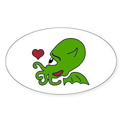 Cthulhu Appreciation Day Oval Sticker (No Text)