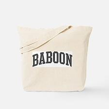 Baboon (curve-grey) Tote Bag