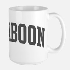 Baboon (curve-grey) Large Mug