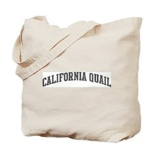 California Quail (curve-grey) Tote Bag